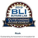 BLI Buyers Lab 2019 Outstanding Achievement for Ricoh